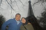 Abdul Hamid Untirta, bersama Istri di Paris