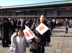 Tahun Baru di istana Kaisar Tokyo