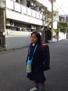 Ayu's First School Day in Japan