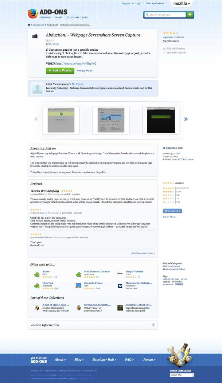 Abduction! - Webpage Screenshots Screen Capture :: Add-ons for Firefox