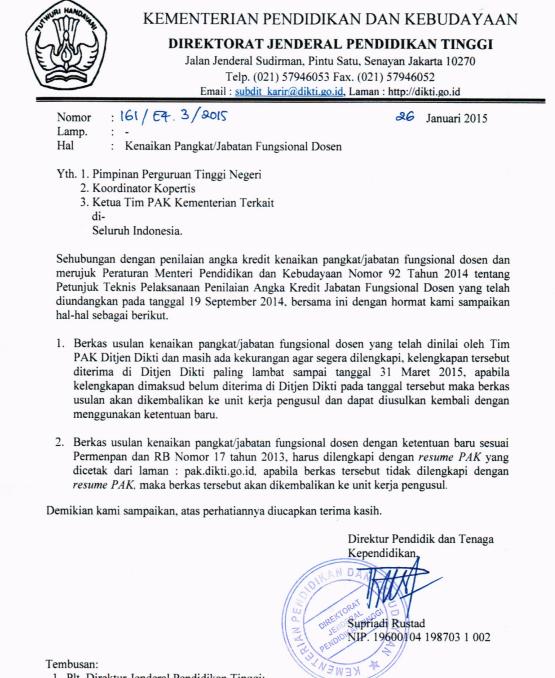 surat rasmi permohonan kenaikan pangkat rasmi q
