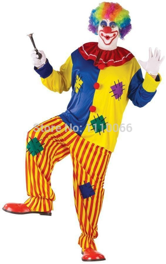 Halloween-Dewasa-Badut-Kostum-badut-sirkus-berpakaian-sesuai-dengan-rainbow-wig-dan-hidung-merah-tinggi-165